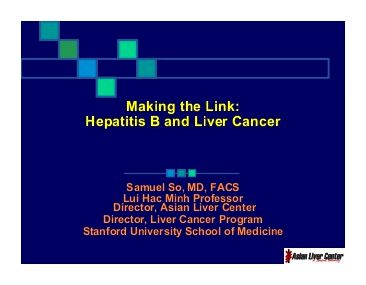Liver cancer and hepatitis - liver cancer center - everydayhealth.com Studies have shown that whenever